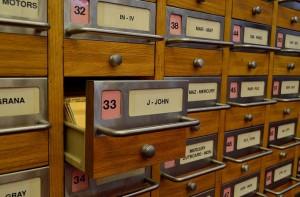 Cajones con archivadores
