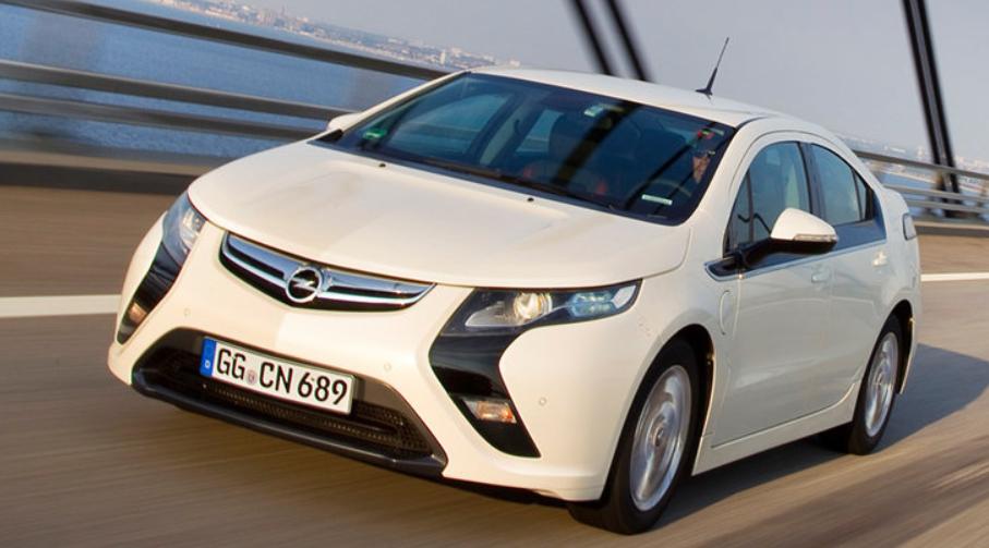 Coche Opel Ampera blanco