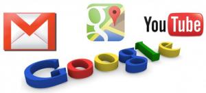 Logotipos de Gmail, Youtube, Google Maps y Google.